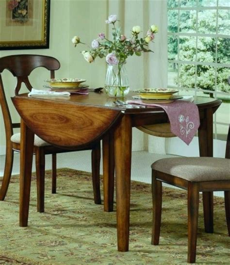 Small Space Kitchen Tables Drop Leaf Dining Table For Small Spaces