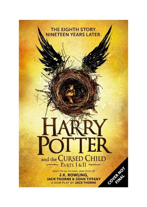 only child a novel books harry potter and the cursed child no novel but you can