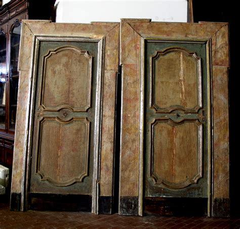porte antiche laccate ptl228 coppia di porte laccate 600 mis 120 x 222