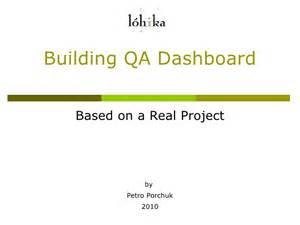 quality assurance metrics template creating qa dashboard