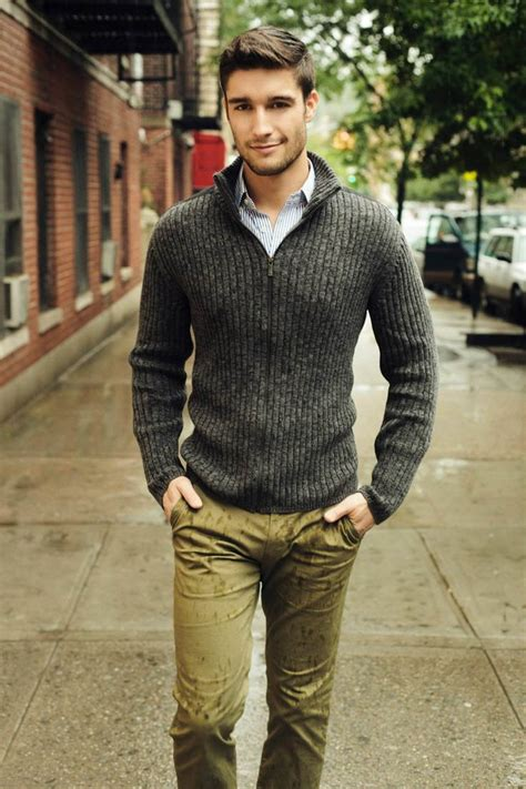 Sweater Pria Model New Casual Green Army Brown Shoulder Patch 447 khaki khakis chinos a classic style staple gentleman s gazette