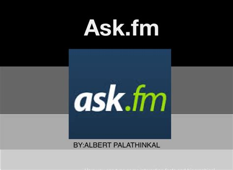 ask fm for ipad social network project ask fm on flowvella presentation