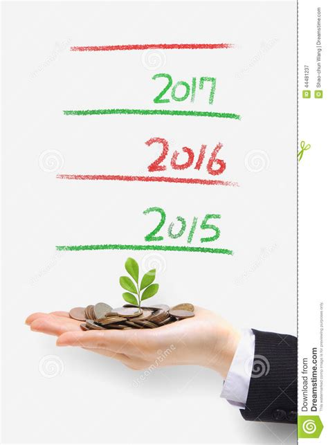 a to a dollar growing the family business coins add up books money tree grow up in new year stock photo image 44481237
