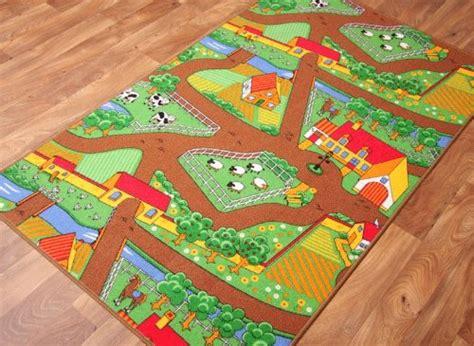 farm animal rug kid s country farm mat animal and tractor rug 100cm x 165cm 3ft 3 x 5ft 5 home