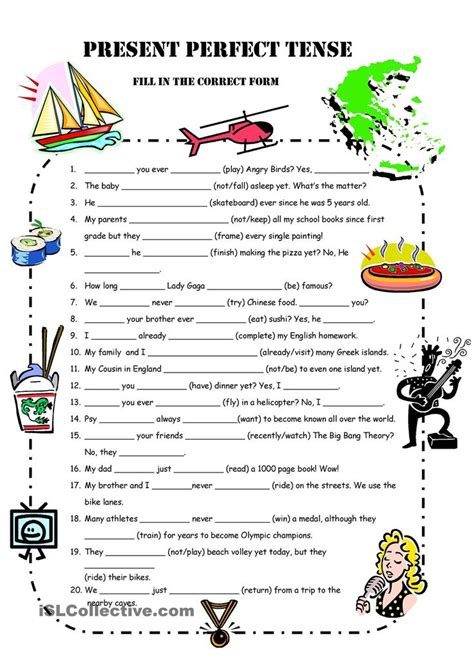 pattern of simple present perfect tense 60 best present perfect images on pinterest english