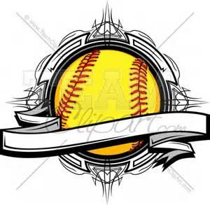 softball design templates softball clipart vectors images