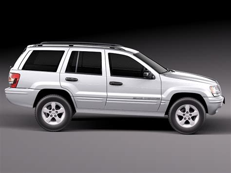 jeep models 2005 jeep grand cherokee 1999 2005 3d model max obj 3ds fbx c4d