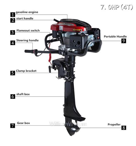 boat motors air cooled free shipping new outboard motor hangkai outboard boat