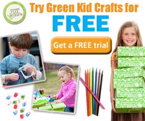 green kid crafts promo code exclusive offer free trial box from green kid crafts