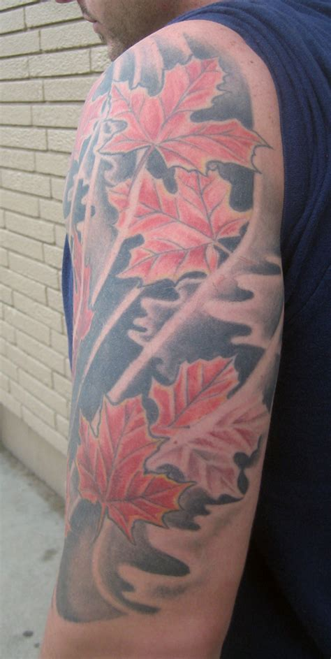 maple leaves rites of passage tattoo