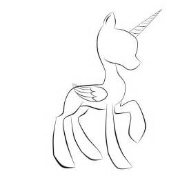 Mlp Base Alicorn Coloring Pages Sketch Page sketch template