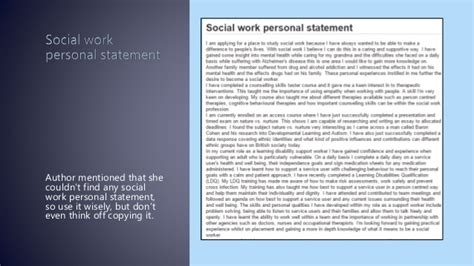 personal statement for social work report564 web fc2