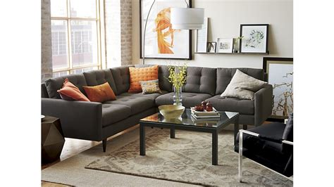 crate barrel sectional crate and barrel sectional sofa bed centerfieldbar com