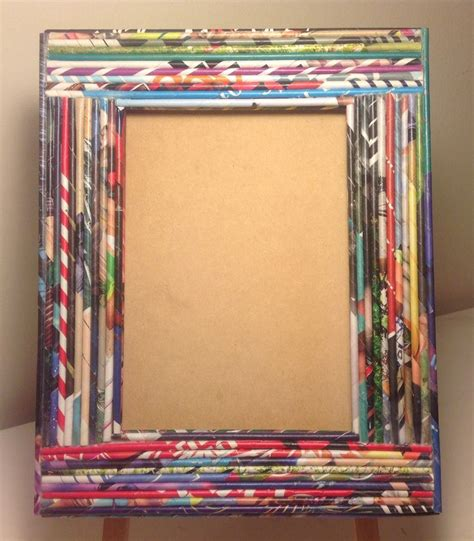 como hacer portarretratos con material reciclado reciclar reutilizar y reducir marcos de fotos decorados