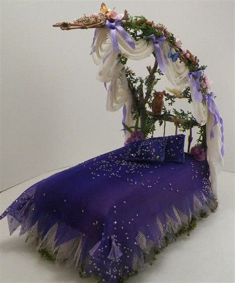 fairy bed pin by kristin on fairy miniature tutorials pinterest