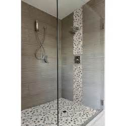 Home Depot Bathroom Tile Ideas and grey tiles for shower wall garnished by mosaic natural stones
