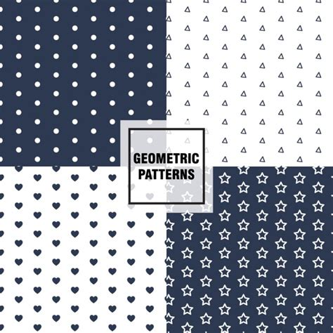 pattern collection download geometric patterns collection vector free download