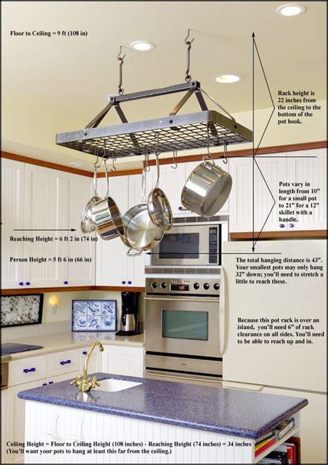 kitchen island with hanging pot rack 66 best images about pot racks on pot racks