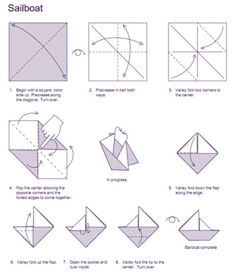 How To Fold A Boat Origami - sailboat origami tom sawyer origami