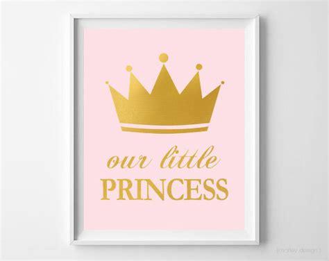 free printable princess wall art little princess wall art princess nursery decor pink gold