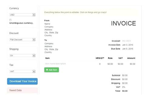 make invoice with logo dimora make invoice