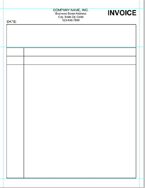 free blank standard invoice template sample vlashed