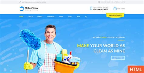 themes of the clean house make clean cleaning company html template by wpmines