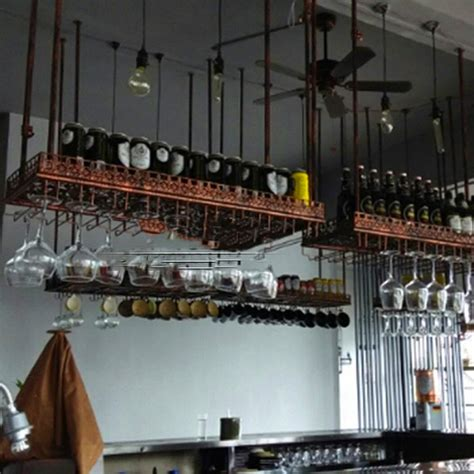 Hanging Bar Glass Rack by Hanging Glass Rack For Bar 10399