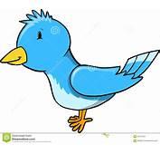Leuk Weinig Blauwe Vector Van De Vogel Illustratie