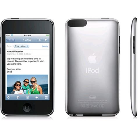 Second 64gb apple ipod touch 3rd generation black 64gb mc011bt a expansys uk