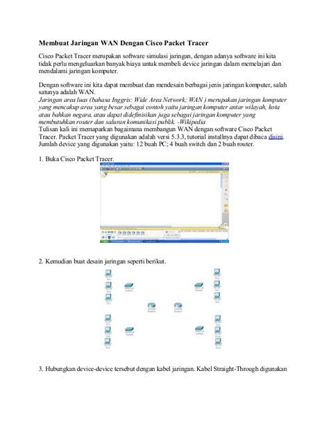 cara membuat jaringan wan dengan cisco packet tracer hi jaringan wan dengan cisco