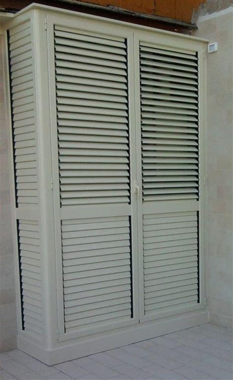 armadi in alluminio per balconi armadio per esterno alluminio scaffalature armadi balcone