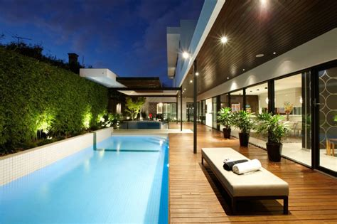 contemporary pools indoor outdoor house design with alfresco terrace living
