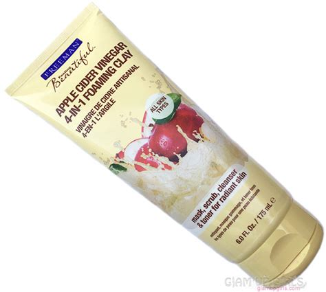 Freeman Apple Cider Vinegar Clay Mask Scrub for makeup products reviews and swatches glam up