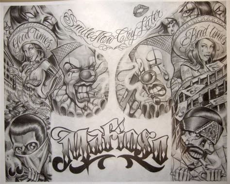 boogs tattoo designs boog flash prisongangster my type of for