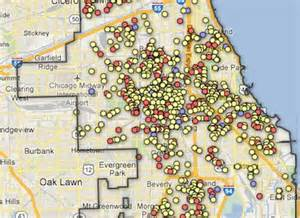 Map Of Chicago Shootings by This Homicide Map Shows How Bad Things Are Getting In