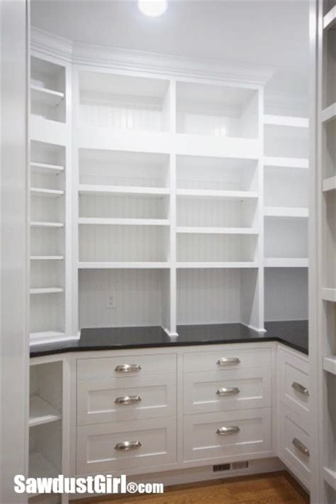 walk  pantry cabinets  countertop home kitchen