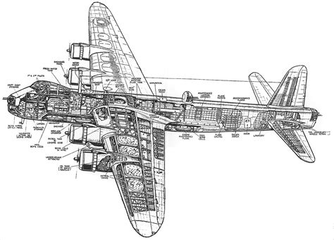airplane diagram for cut away diagram the stirling aircraft project