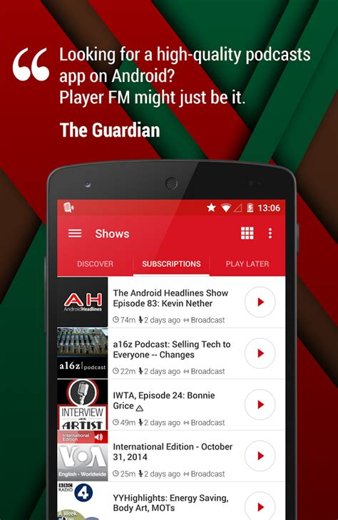 best podcast app for android featured top 10 podcast apps for android