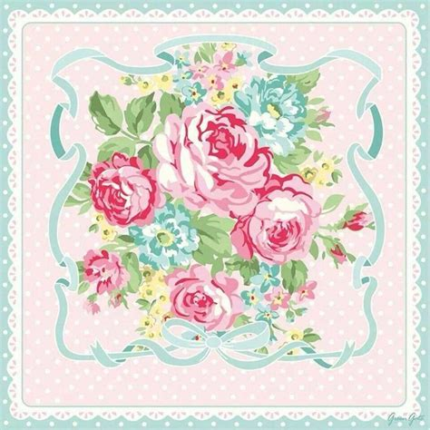 Paper Napkin Untuk Media Decoupage Servietten Motif Cuteness Flower 107 best images about greengate shabby roses on