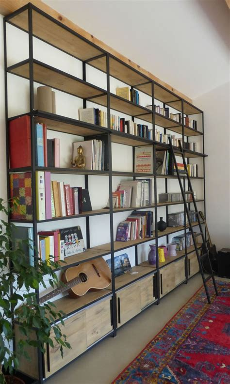 bibliotheque decoration de maison 1000 id 233 es 224 propos de 201 tag 232 re industrielle sur