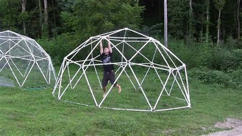 geodesic dome pvc geodesic dome load test youtube