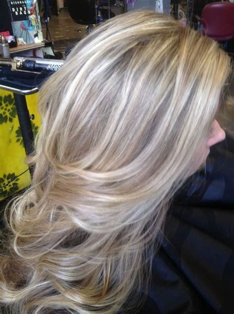 low lights on very light hair long light ash blonde hair with natural ash brown