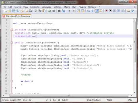 import javax swing joptionpane calculator joptionpane java swing youtube