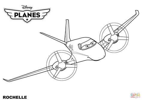 planes coloring pages disney planes rochelle coloring page free printable