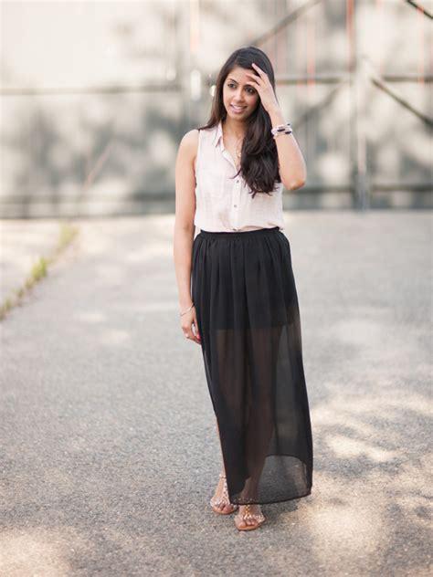 sheer maxi skirt redskirtz