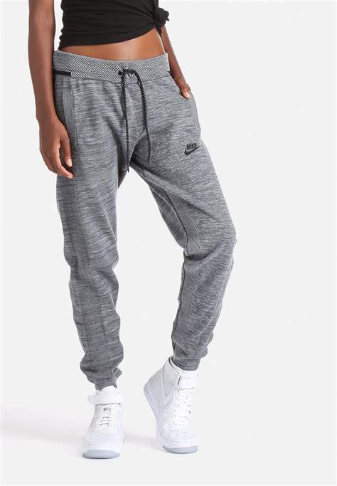 girls gray and black joggers pants nike tech knit track pant cool grey dark grey black nike