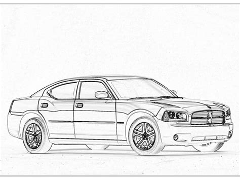 Dodge Challenger Coloring Pages Coloring Coloring Pages