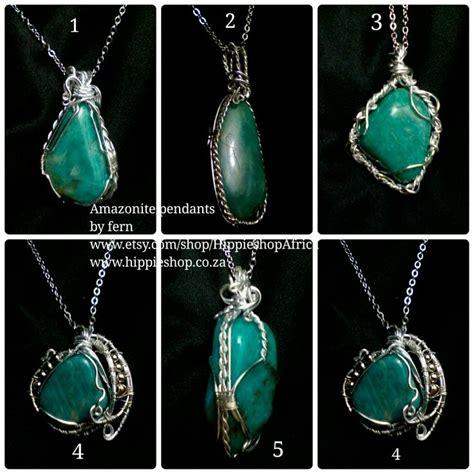 wire works jewelry amazonite pendant handmade wire work jewelry by
