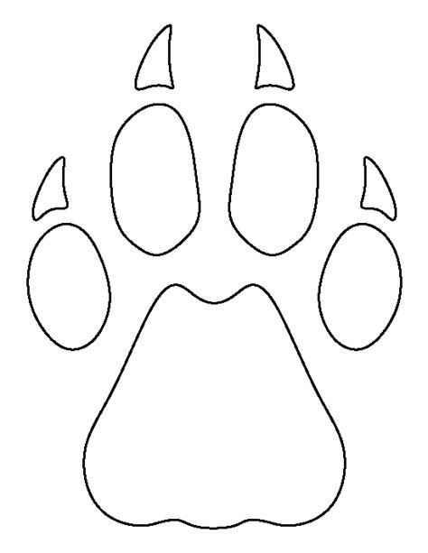 cheetah template cheetah paw print pattern use the printable outline for